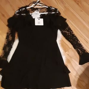 NWT Black Party Dress With Lace